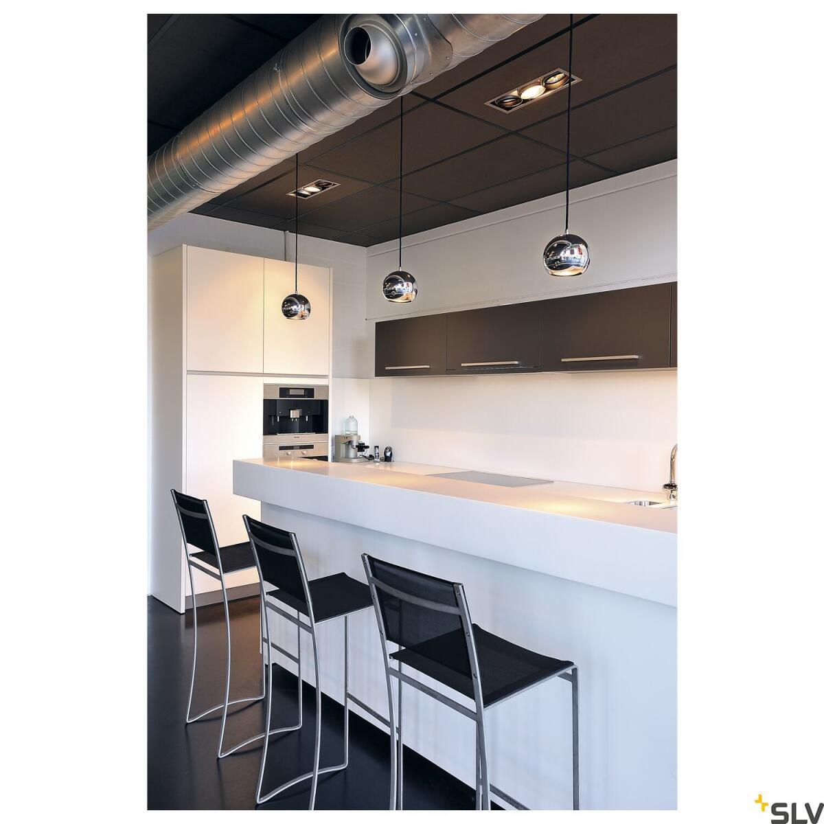 light eye chrom pendelleuchte rund slv 133482 71 49. Black Bedroom Furniture Sets. Home Design Ideas