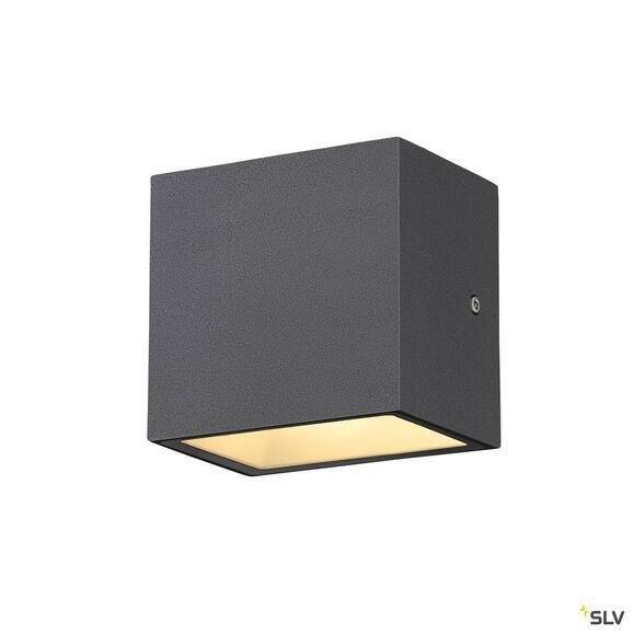 Sitra Cube LED Outdoor Wandleuchte Up&Down anthrazit IP44 3000K 10W