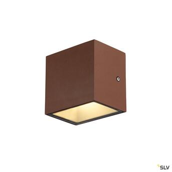 Sitra Cube LED Outdoor Wandleuchte Up&Down rostfarben...
