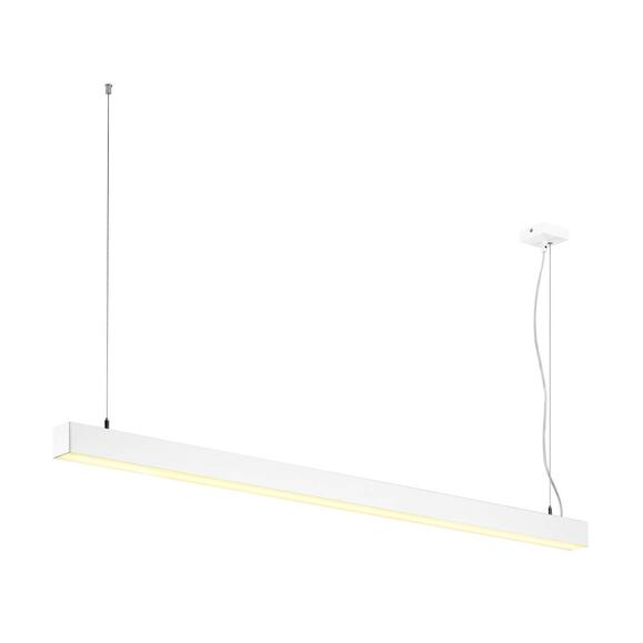 Q-Line Single LED Pendelleuchte 150 cm in weiß