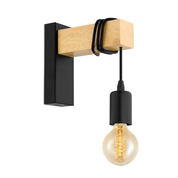 und Deckenstrahler Nina 1xE14 schwarz gold Retro Spot Lampe Licht Vintage Wand
