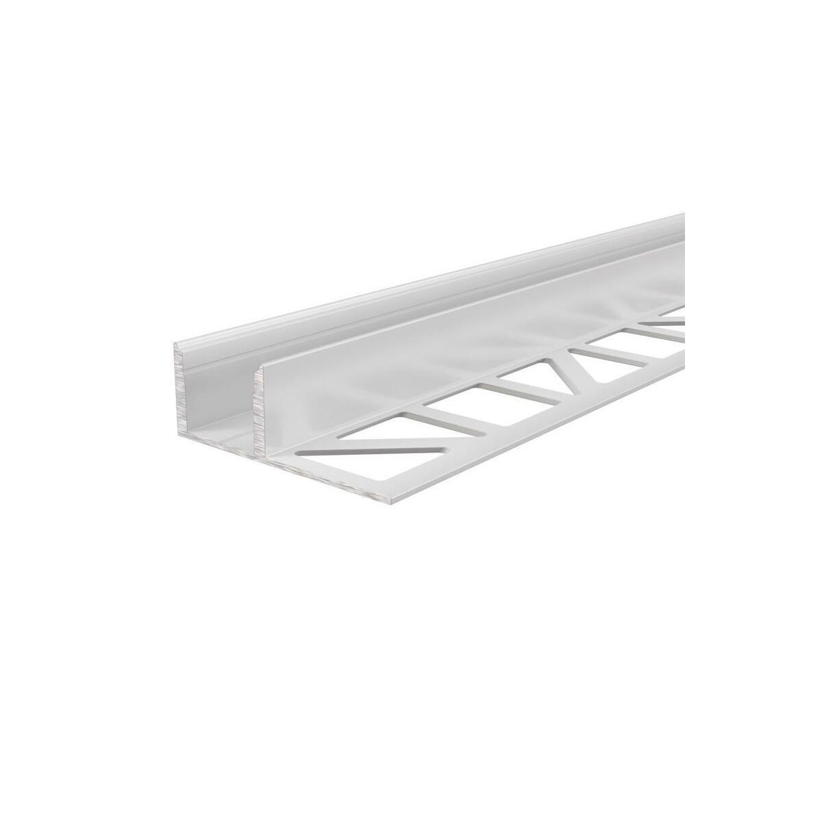 Fliesen Profil EL 03 12 für 12 13 3 mm LED Stripes Weiß