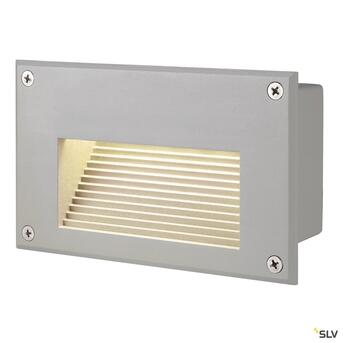 Brick LED Downunder warmweisse LED silbergraue Wandleuchte