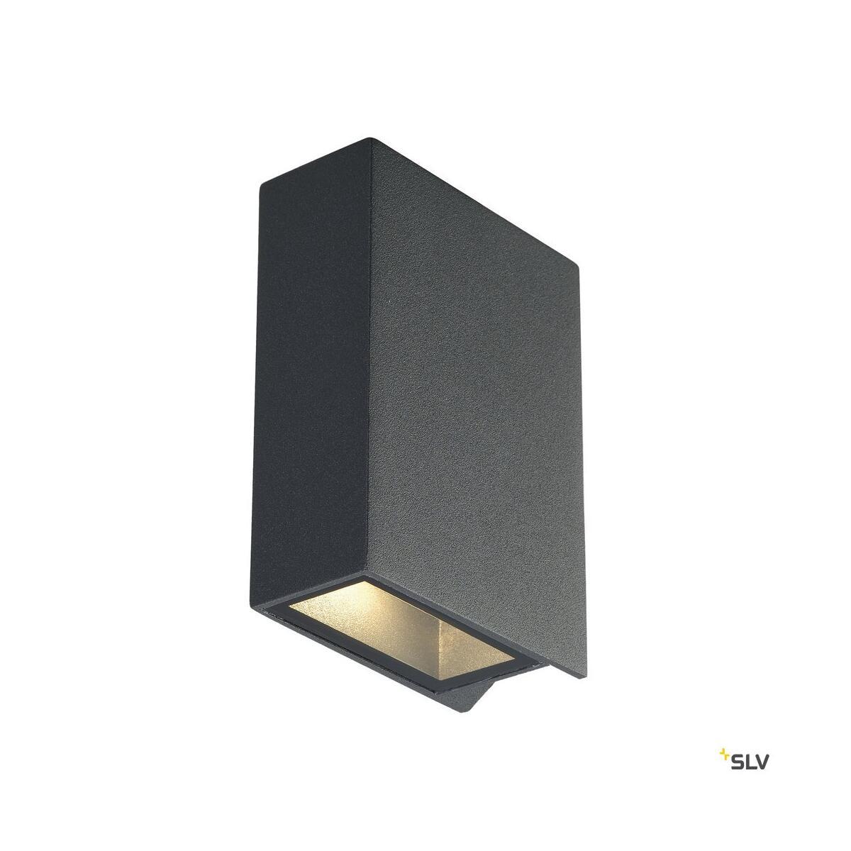 quad 2 led wandleuchte anthrazit slv 232475 75 90. Black Bedroom Furniture Sets. Home Design Ideas