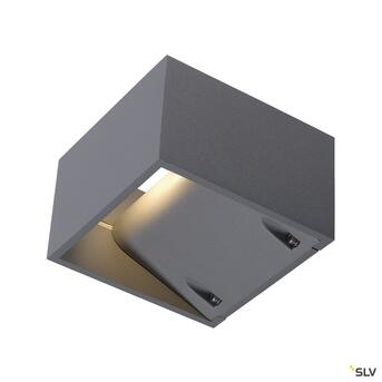Logs Wall LED Wandleuchte silber IP44 Up&Downlight