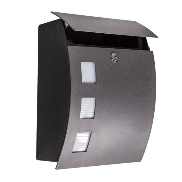 Fenster anthrazit  Briefkasten anthrazit mit Fenster CMD 76, 123,00 €