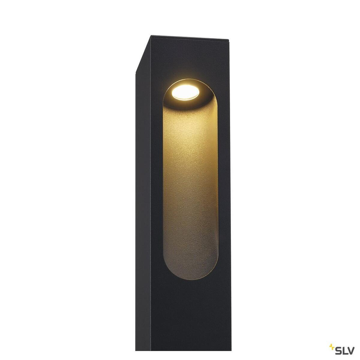 slotbox 40 stehleuchte eckig anthrazit led 6 8w slv 232135 97 49. Black Bedroom Furniture Sets. Home Design Ideas