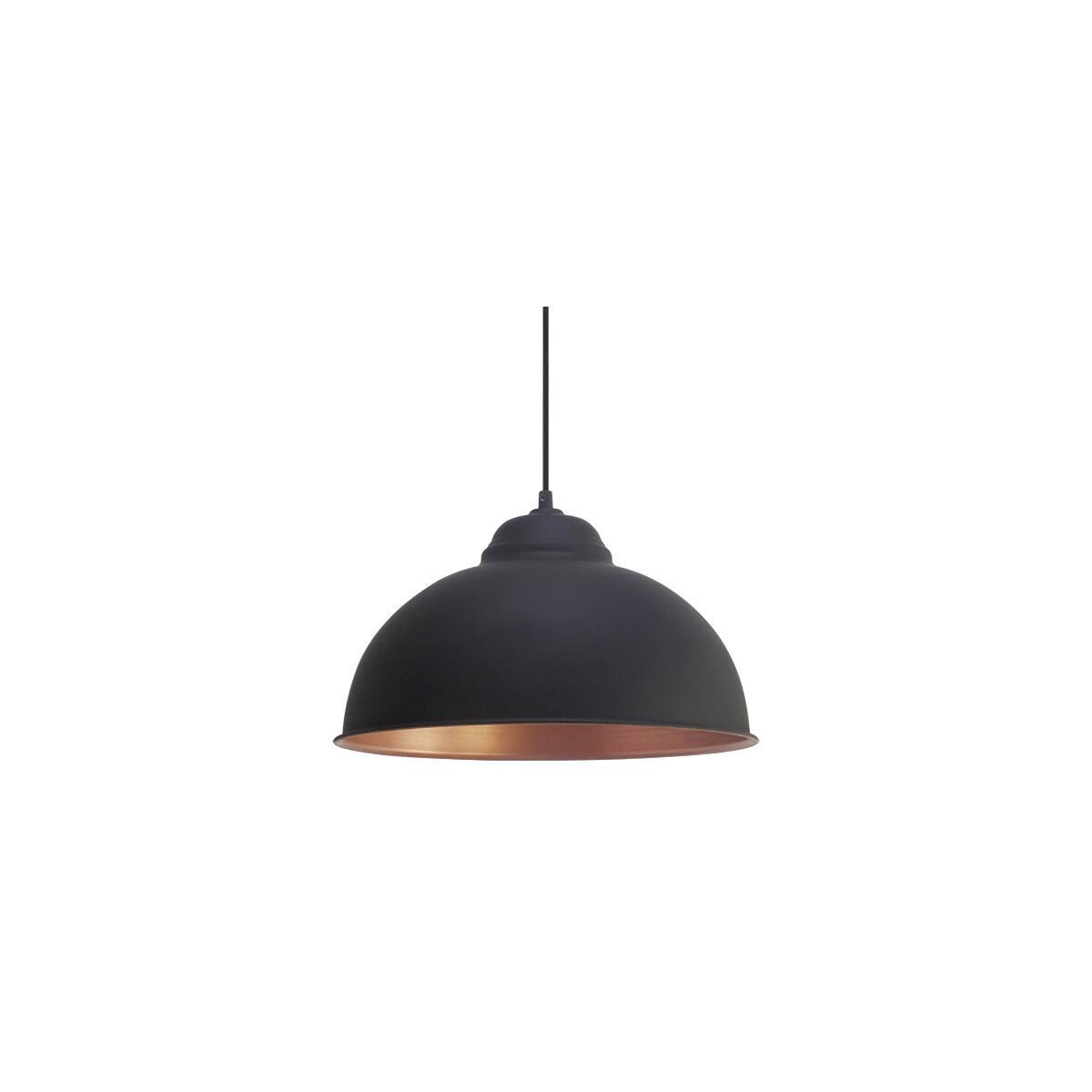 truro 2 pendelleuchte rustikal schwarz kupfer eglo 49247 46 99. Black Bedroom Furniture Sets. Home Design Ideas