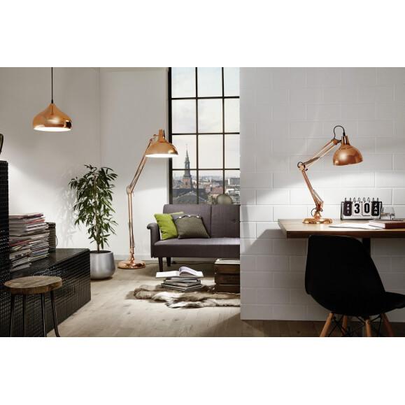 hapton moderne geschwungene pendelleuchte kupfer eglo 49449 55 49. Black Bedroom Furniture Sets. Home Design Ideas