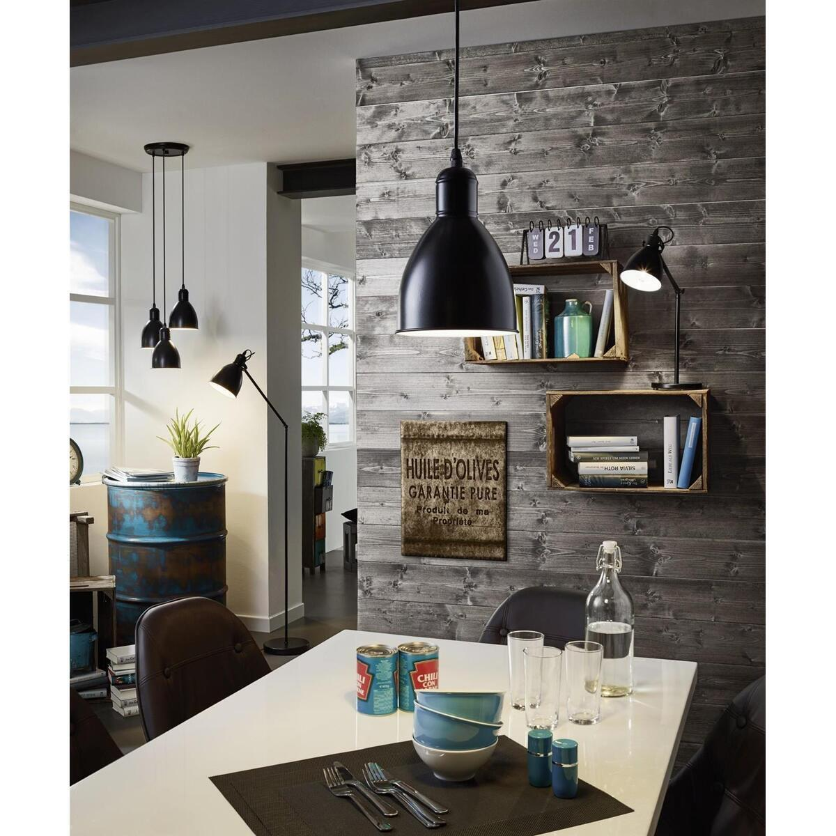 priddy schlichte schwarze pendelleuchte vintage 18 99. Black Bedroom Furniture Sets. Home Design Ideas