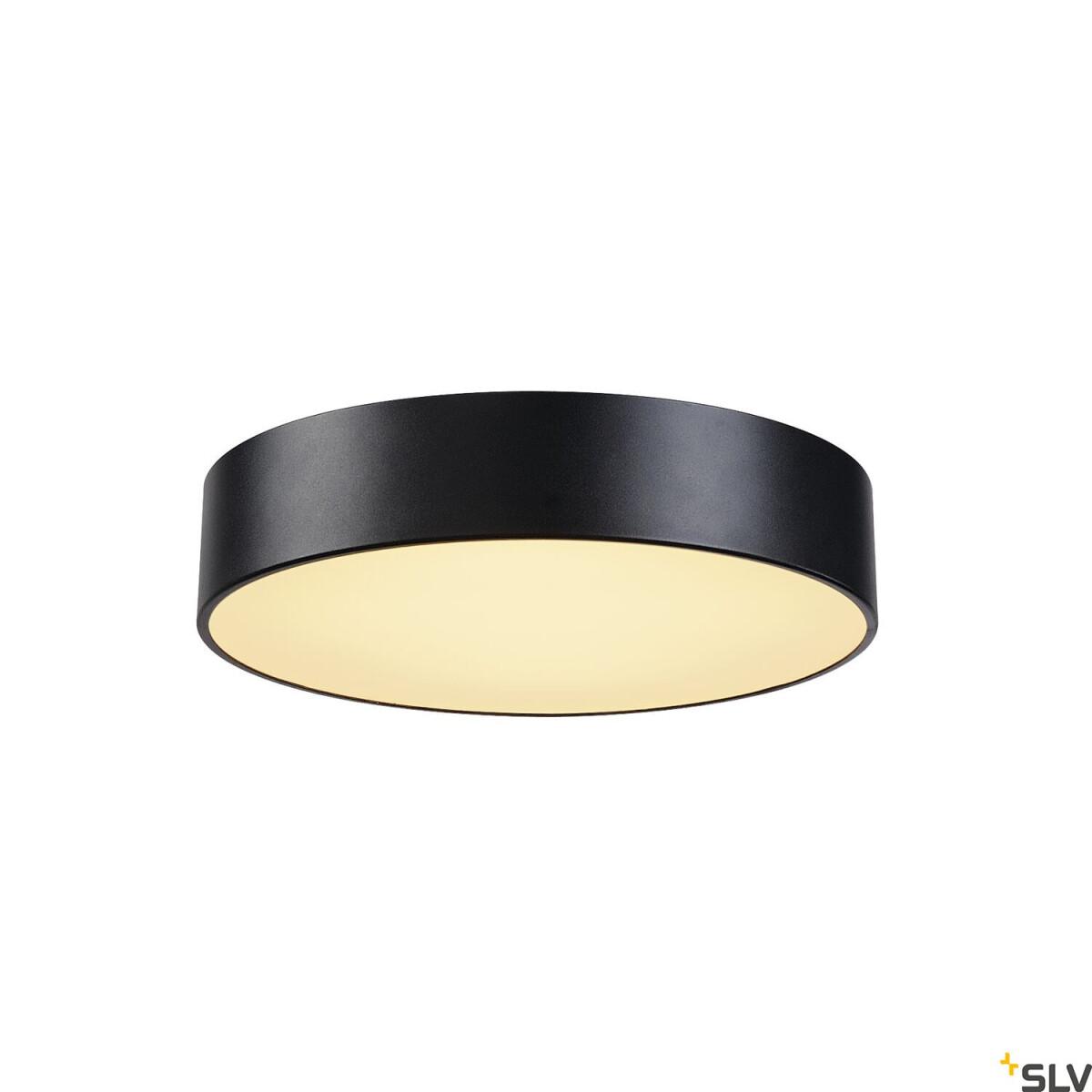 MEDO 40 LED Deckenleuchte rund schwarz 38cm 6W SLV 135070   Leuchtenr, 179,00