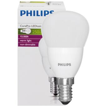 E14 LED Tropfenlampe 4W 250 Lumen 2700K warmweiß Philips...