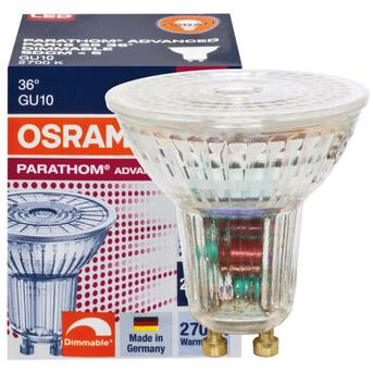 GU10 LED 4,5W 36° 2700K warmweiß dimmbar Osram