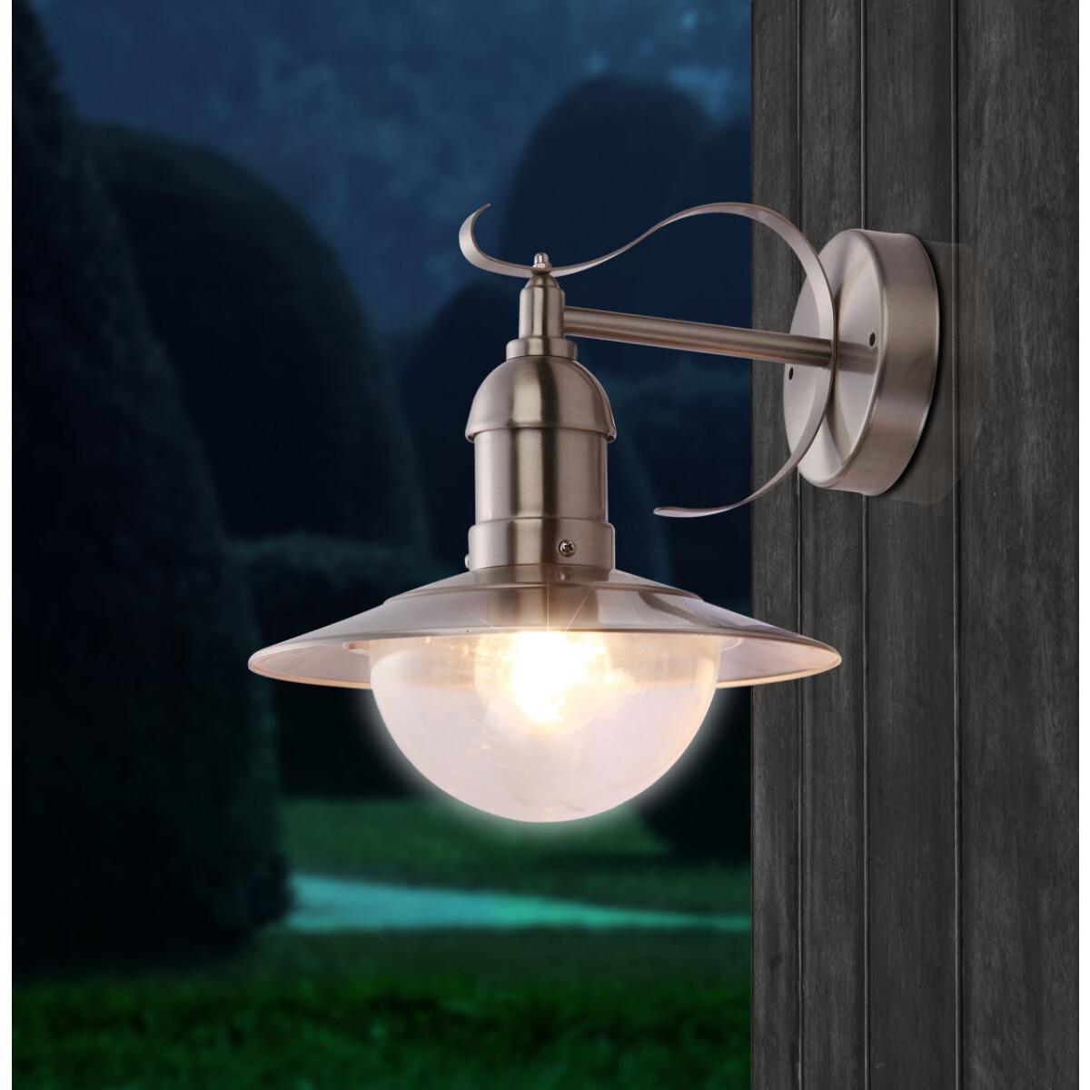 Wandleuchte schwarz Up/&Downlight IP44 für den Außenbereich Cotoba Globo NEU Lamp