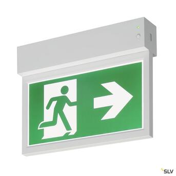 P-Light Emergency Series Exit Sign Small Ceiling/Wall White