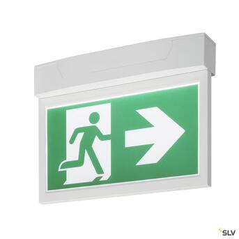 P-Light Emergency Series Exit Sign Big Ceiling/Wall White