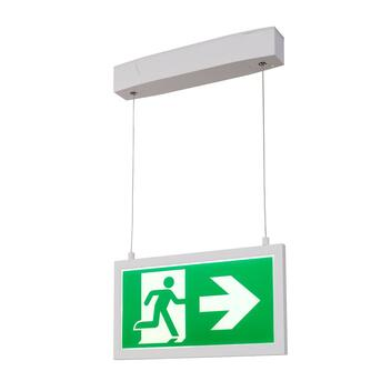 P-Light Emergency Series Exit Sign Big Pendant White