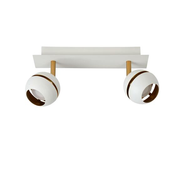 Binari Deckenspot weiß gold LED 5W 2-flammig