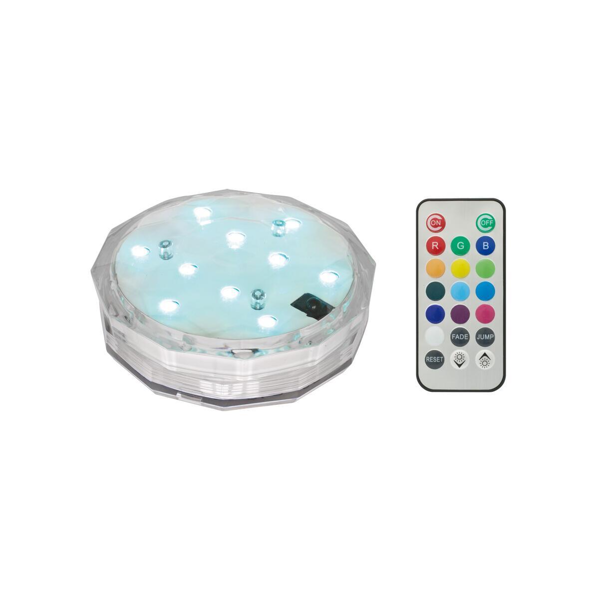 led rgb leuchte rund mit fernbedienung batteriebetrieben. Black Bedroom Furniture Sets. Home Design Ideas