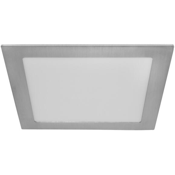 LED Panel eckig 22,5x22,5 cm dimmbar Metall nickel matt silber 26W IP20