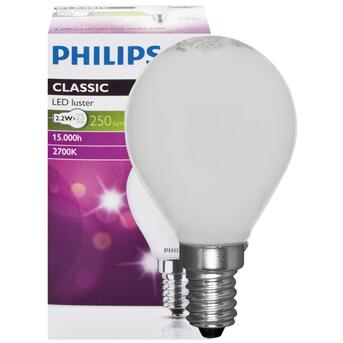 LED-Tropfenlampe E14 2,2W 250 Lumen 2700K warmweiß Phillips