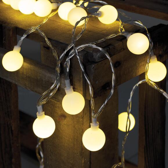 Led Garten Party Lichterkette 50 Led Warmweiß 735m Für Außen Opal