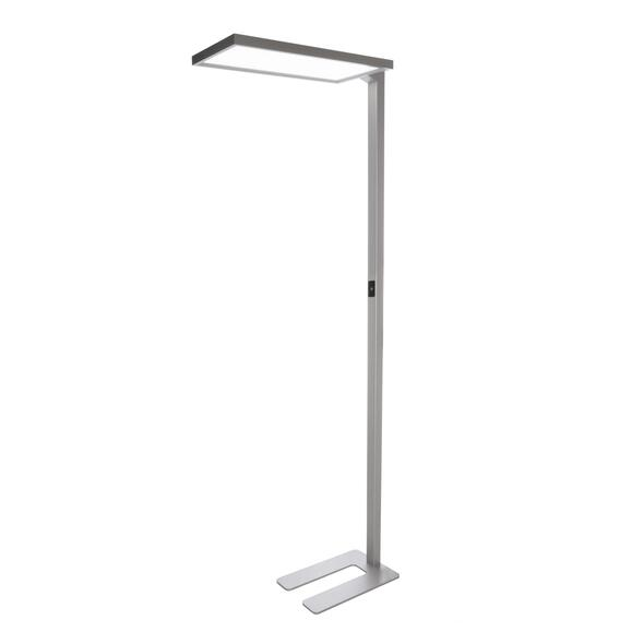 Office One LED Stehleuchte 4000K dimmbar 40W UGR<19 Büroleuchte silber