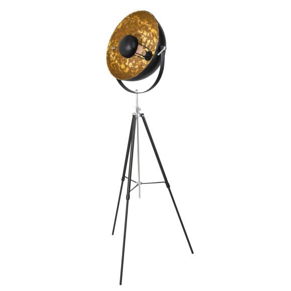Retro Stehleuchte Nataniel schwarz gold 163 cm Höhe, 201,49 &eur